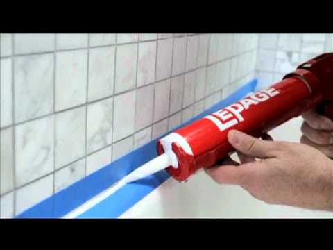 How to Seal Around A Tub Or Shower - YouTube