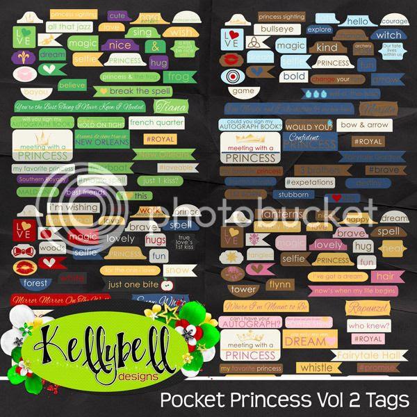 Kellybell Designs Pocket Princess Vol 2 Tags