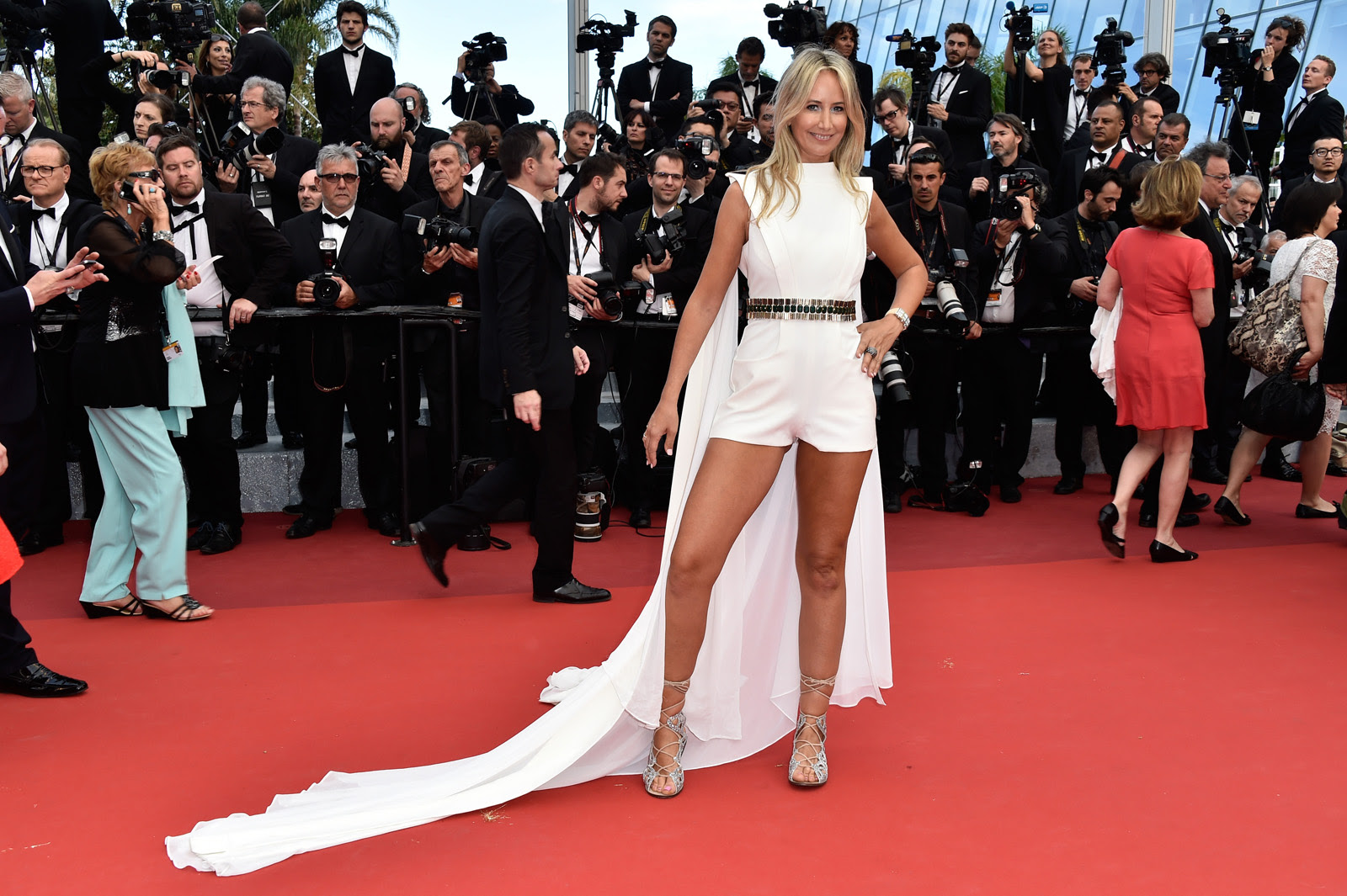 "CANNES, FRANCE - MAY 12:  Lady Victoria Hervey attends the ""Money Monster"" premiere during the 69th annual Cannes Film Festival at the Palais des Festivals on May 12, 2016 in Cannes, France.  (Photo by Pascal Le Segretain/Getty Images)"