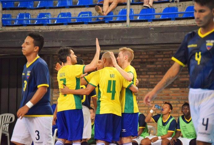 Brasil Equador Eliminatórias Mundial de Futsal (Foto: Luis Domingues/CBFS)