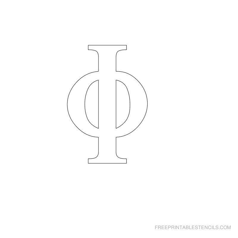 Printable Greek Alphabet Stencil I   For the Home   Pinterest ...