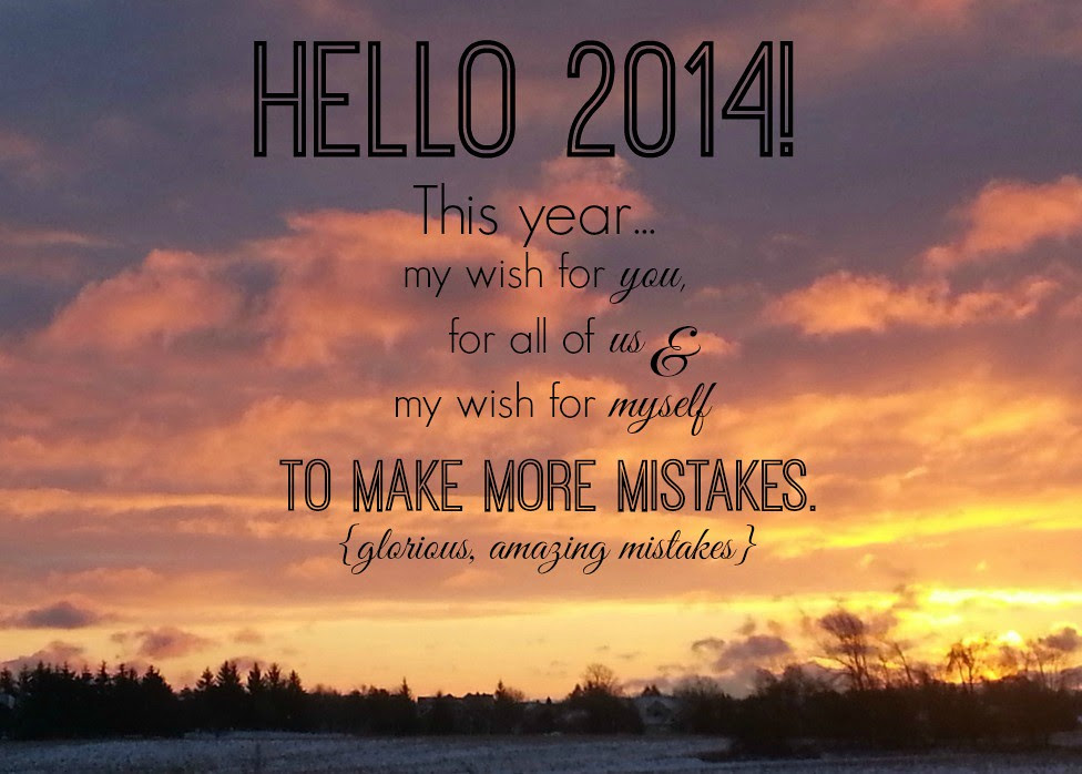 {Happy New Year} Hello 2014!
