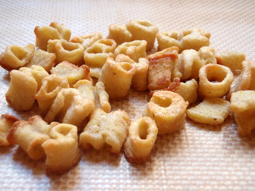 Baked alphabet crackers