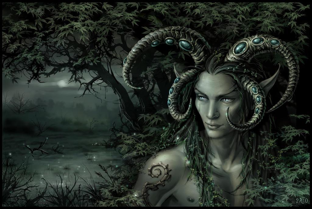 Fantasy Digital Paintings Swamp King by Candra