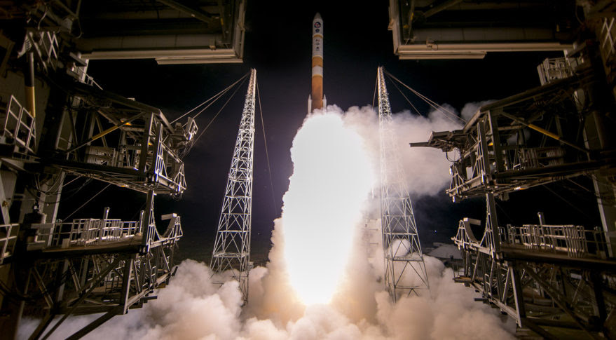 A ULA Delta 4 lifts off from Cape Canaveral Air Force Station March 18, carrying the Wideband Global Satcom 9 satellite. Credit: ULA
