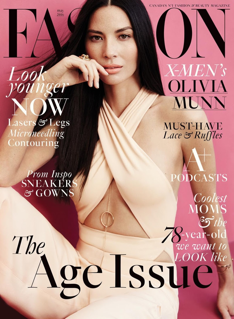 Olivia Munn on FASHION Magazine May 2016 Cover