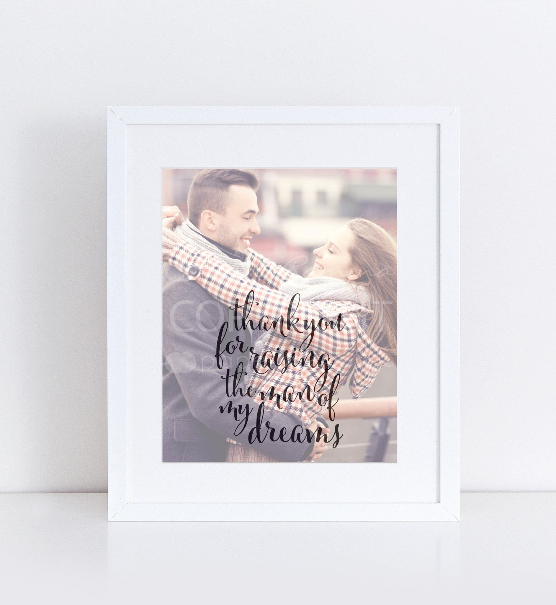 Man Of My Dreams Wedding Personalized Photo Quote 76thandnewbury
