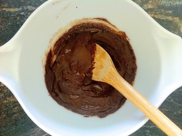 Brownie Batter Mixed Before Adding Dry