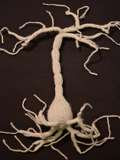 A hand knit neuron.