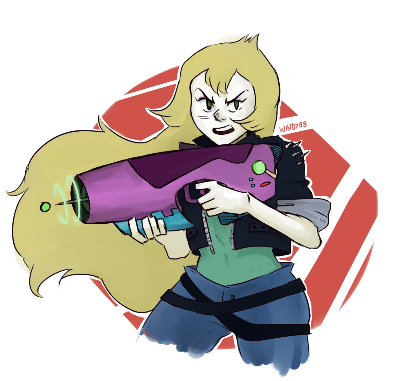 I like to think that Vidalia helped the cristal gems when they had to fight against some crazy shit. And she fought with amazing tech that she made! 'Cause she's a badass obviously.