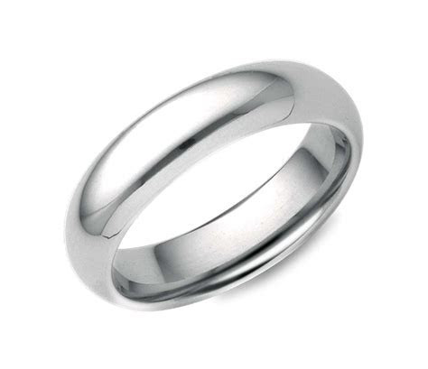 Comfort Fit Wedding Ring in 18k White Gold (5mm)   Blue Nile