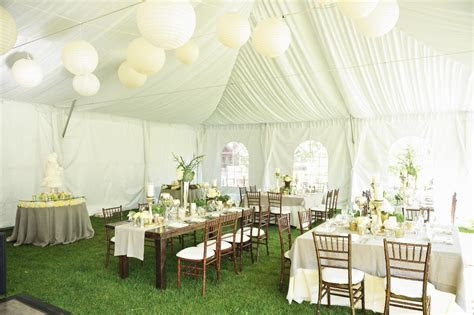 Cream Green and Taupe Tent Reception Decor Ideas