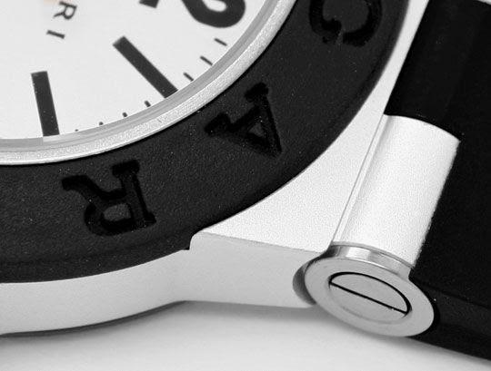 Foto 3, Bulgari Bvlgari Diagono Aluminium Kautschuk, Medium Uhr, U2059