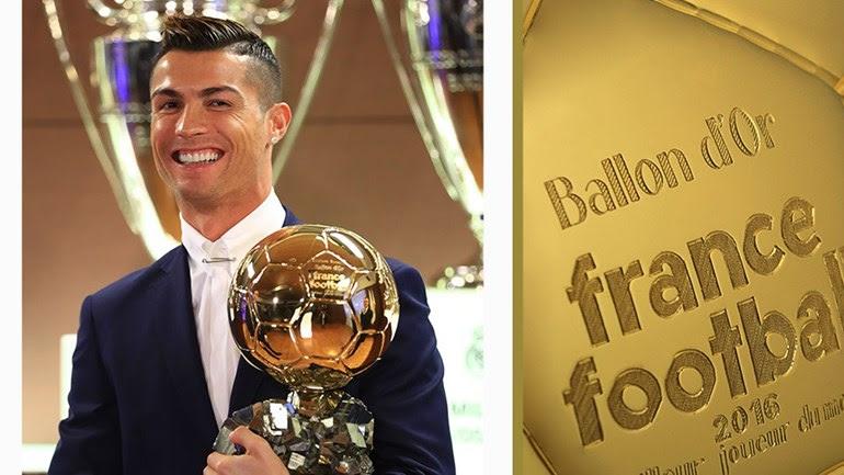 Resultado de imagem para Cristiano Ronaldo conquista Bola de Ouro pela quinta vez
