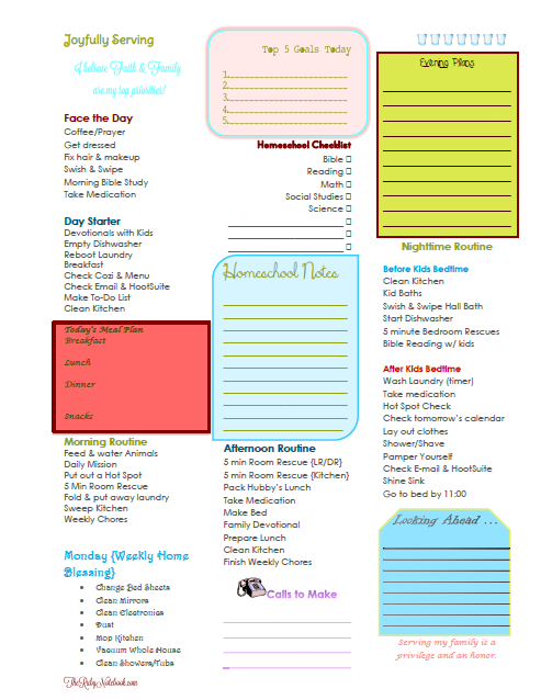 Free Daily & Weekly Planner Printables for Homeschool Moms | Free ...