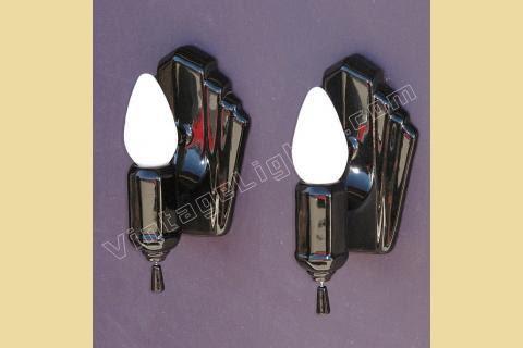 Black Porcelain Wall Sconces Vintage Black Bathroom Lighting Fixtures