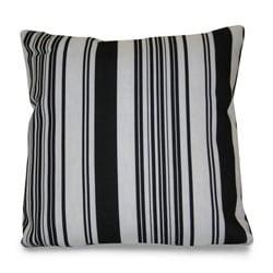 Thro Modern House Stripe Outdoor Black/ White Decorative Pillow ...
