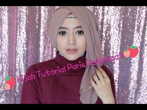 VIDEO : #64 hijab tutorial paris segiempat (semi formal) - natasha farani -  ...