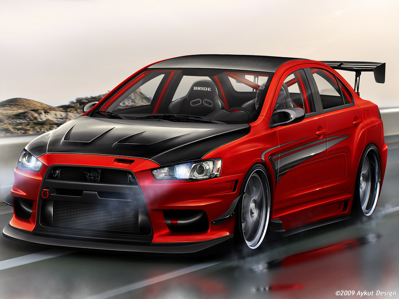 Modifikasi Mobil Mitsubishi Lancer Evolution Ottomania86