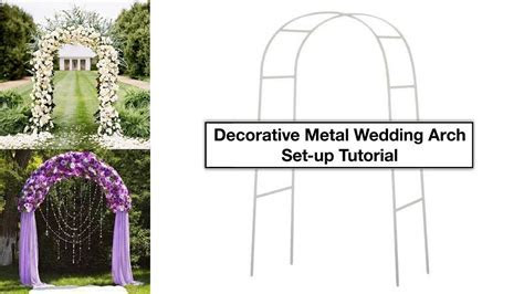 Decorative Metal Wedding Arch Tutorial   How To Setup