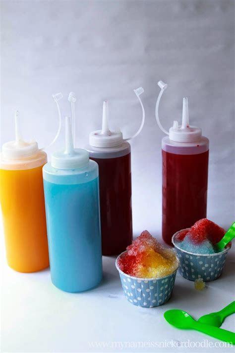 Homemade Sno Cone Syrup   Frozen bday party   Pinterest