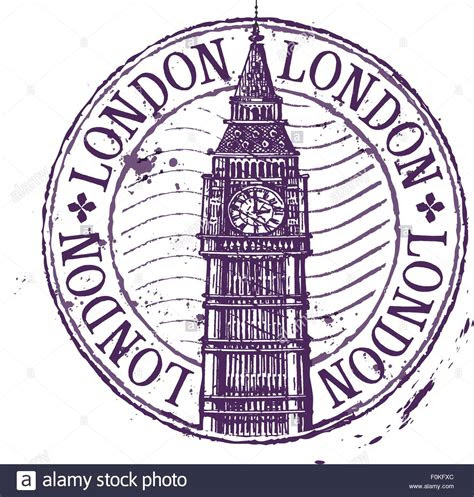 london vector logo design template shabby stamp