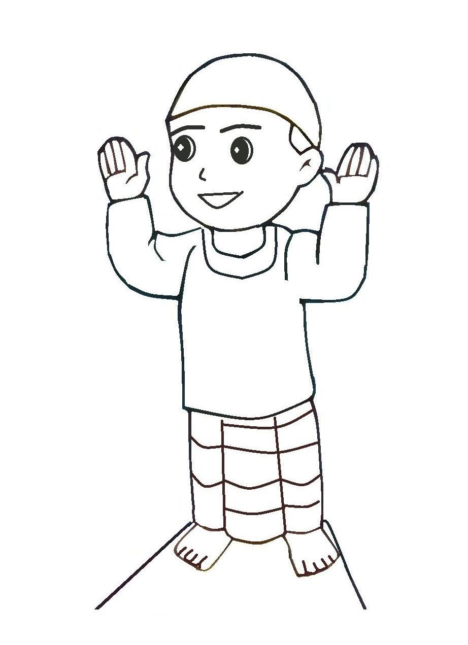 Gambar Kartun Anak Perempuan Sholat Top Gambar