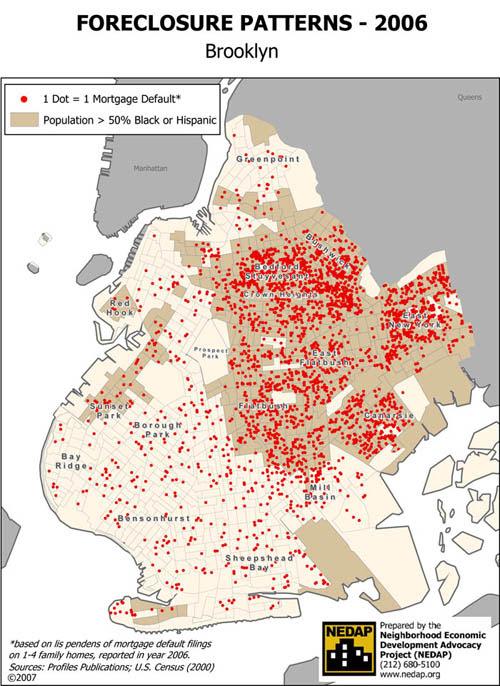 Brooklyn Foreclosure Map