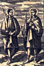 Epímaco y Alejandro, Santos
