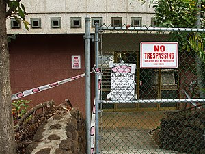 Old Wailuku Post Office taped and closed off d...