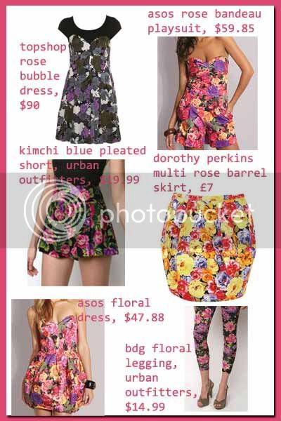 photographic floral prints