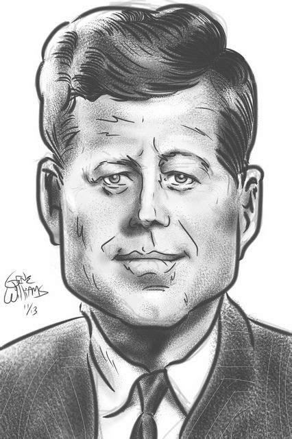 jfk  gwiz   celebrity art caricature