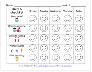 Daily 5 Checklist For Students   Daily Planner