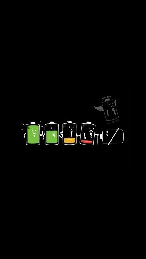 battery life funny cartoon art iphone wallpapers tap