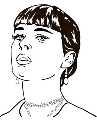 Dibujo De Cara De Mujer Para Colorear Dibujos Para Colorear