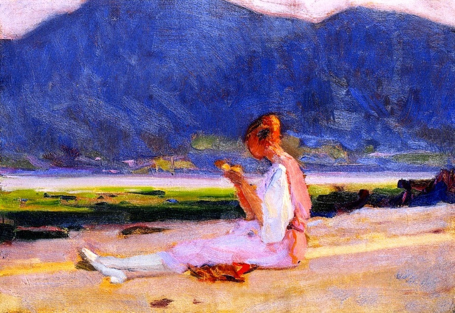 The Painter's Young Wife, Baie-Saint-Paul Clarence Gagnon - 1919