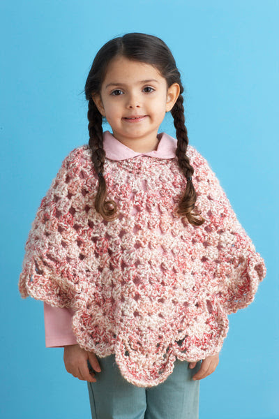 Endearing Girls Poncho Pattern (Crochet)