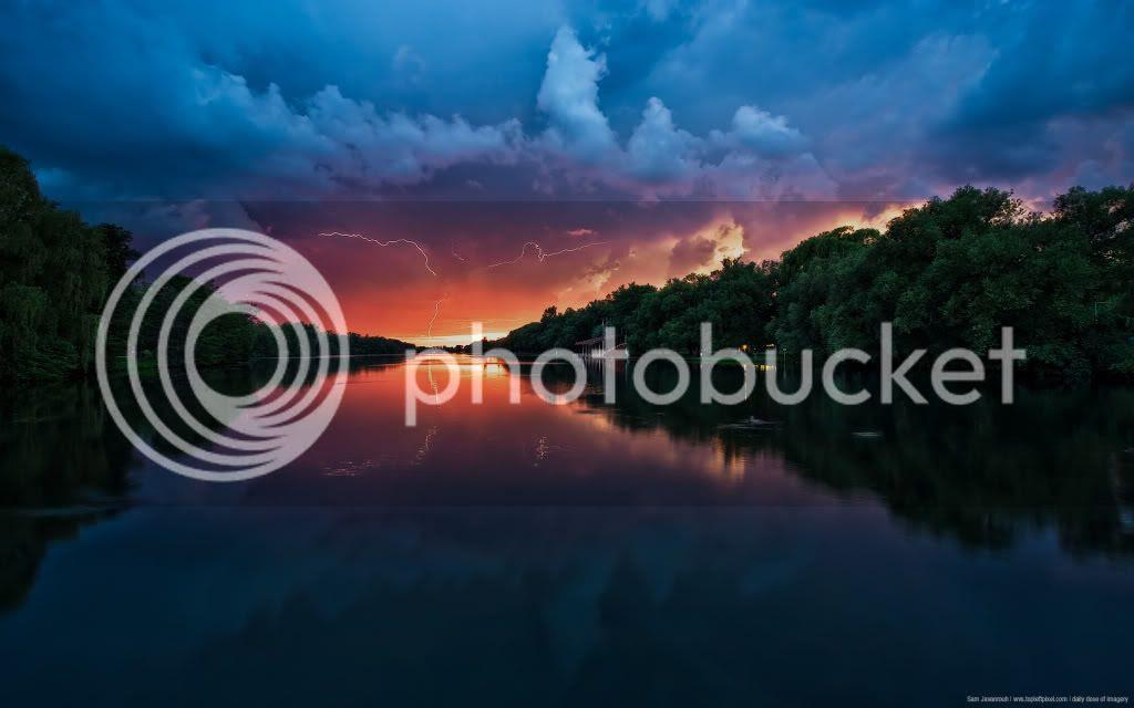 DDI Sunset with Lightning