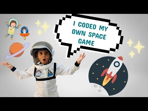 Ali coded his own space game for the first time 🚀🧑🏼🚀🧑🏻💻| Game developing for kids