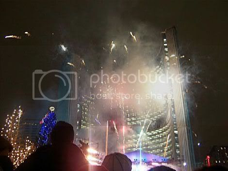 Nathan Phillips Square - New Year's Eve 2005: photo by Mike Ligon