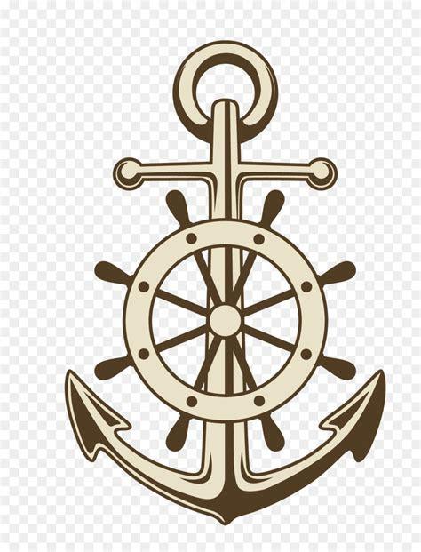 anchor ships wheel paper clip art vector painted anchor