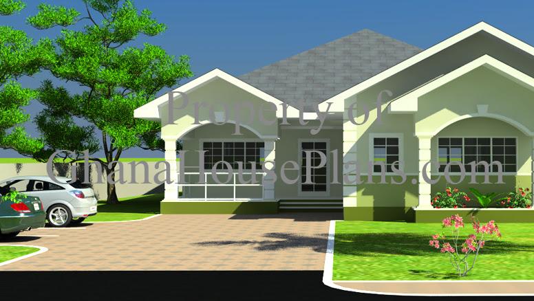 4 Bedroom Single Storey Family Ghana House Plan Huge