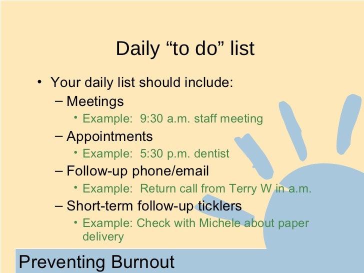 Preventing burnout ppt