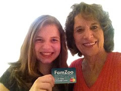 Granddaughter and Grandmother with FamZoo Card