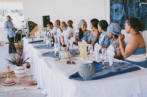 Wedding decor for a Sotho wedding.   Proudly South African