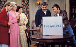 """Ron Howard, Marion Ross, Erin Moran, Tom Bosley, Henry Winkler in """"Happy Days"""""""