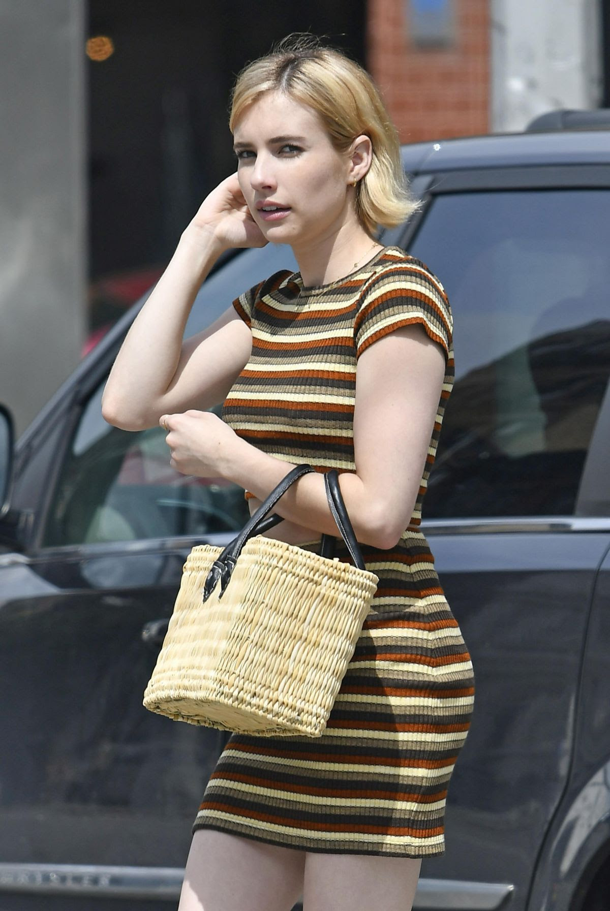 EMMA ROBERTS Out and About in New York 08/08/2017 - HawtCelebs