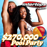 Intertops Pool Party Casino Bonus Giveaway is Just the Thing to Cool Down a Hot Summer Day