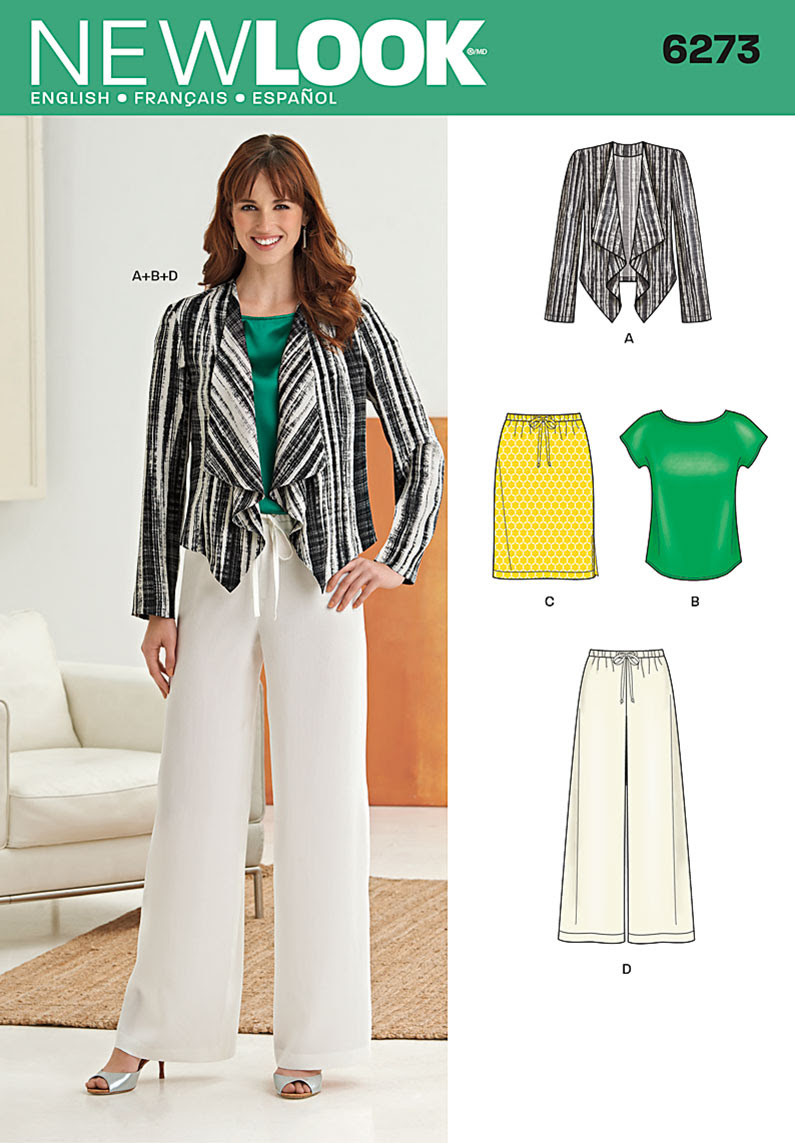New Look Misses' Jacket, Top, Pants and Skirt 6273