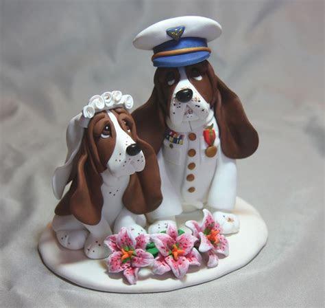Basset Hound Dog Coast Guard Wedding Cake Topper   wedding